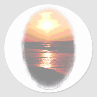 Sunset Transparency Classic Round Sticker