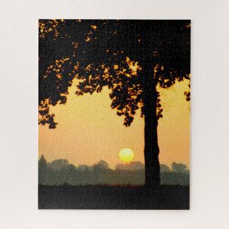 Sunset Tree Jigsaw Puzzle