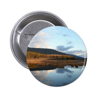 Sunset Tree Lake Reflection Buttons