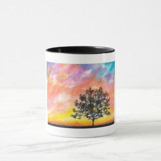 Sunset Tree Landscape Mug