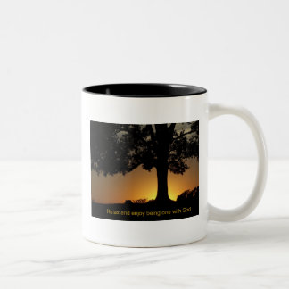 sunset tree quote coffee mugs