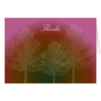 Sunset Trees Thank You Note Card