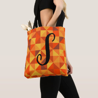 Sunset Triangle Pattern Tote Bag