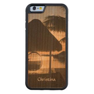 Sunset Tropical Beach Hammock Palm Trees Handmade Cherry iPhone 6 Bumper