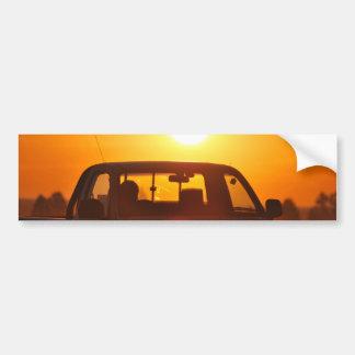 Sunset truck rider bumper stickers