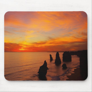Sunset, Twelve Apostles, Port Campbell National Mouse Pad