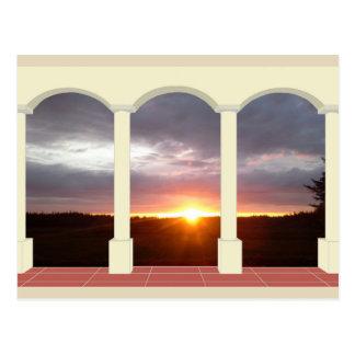 Sunset Under Archway Postcard