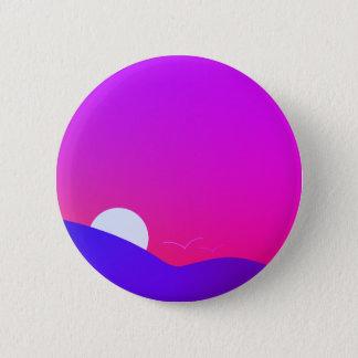 sunset v2 6 cm round badge