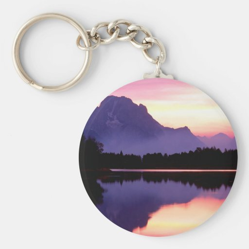 Sunset Velvet Finish Oxbow Bend Wyoming Key Chains