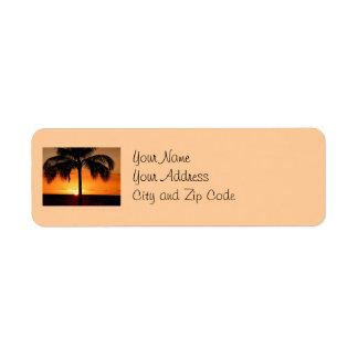 Sunset View Return Address Label