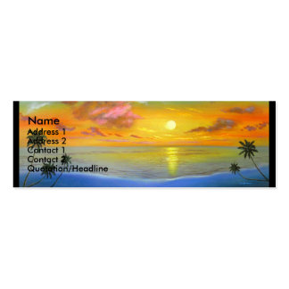 Sunset View Seascape Landscape Painting - Multi Pack Of Skinny Business Cards