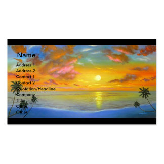 Sunset View Seascape Landscape Painting - Multi Pack Of Standard Business Cards