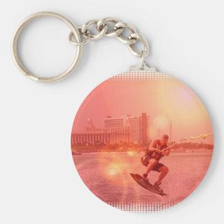 Sunset Wakeboarder Keychain