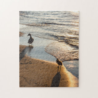 Sunset Walk With Mommy Jigsaw Puzzle