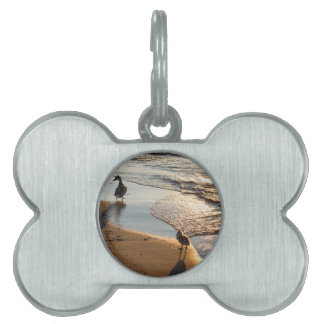 Sunset Walk With Mommy Pet ID Tag