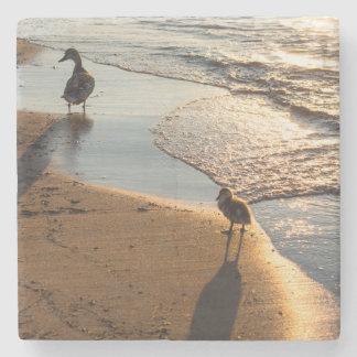 Sunset Walk With Mommy Stone Coaster