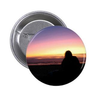 Sunset Watcher 6 Cm Round Badge