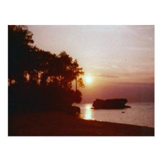 Sunset Water Reflection Postcard