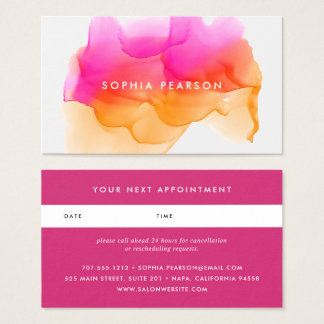 Sunset Watercolor Blot | Appointment Card
