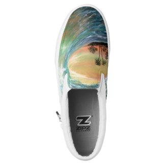 Sunset Wave Slip On Shoes