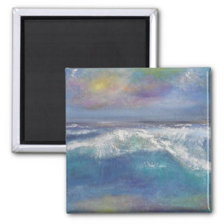 Sunset Wave Square  Magnet