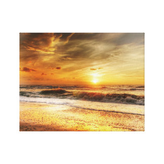 Sunset Waves Canvas Art