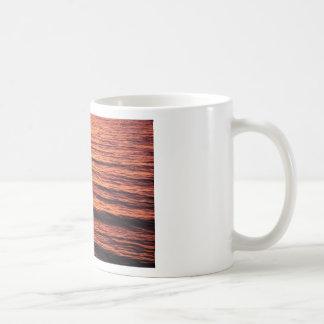 Sunset Waves Basic White Mug