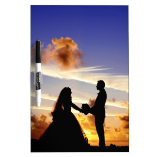 Sunset Wedding Couple Dry Erase Board