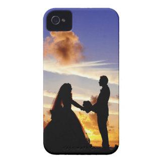 Sunset Wedding Couple iPhone 4 Case