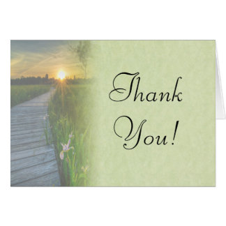 Sunset Wedding Thank You Card