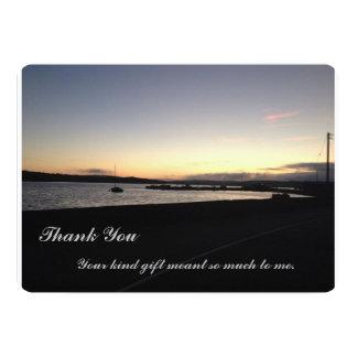 Sunset West Cork, Ireland- Thank you Card 13 Cm X 18 Cm Invitation Card