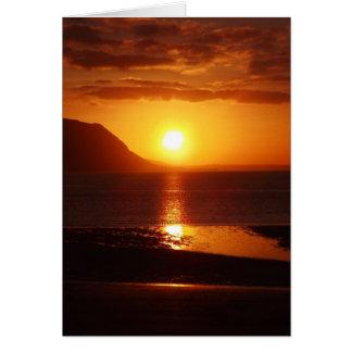 Sunset west shore Llandudno Card