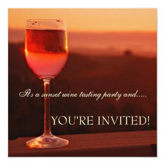 Sunset Wine Tasting Invitation