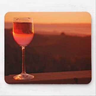 Sunset Wine Tasting Party Mouse Pad