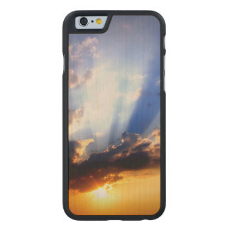 Sunset with Clouds, Beautiful Sky Carved Maple iPhone 6 Case