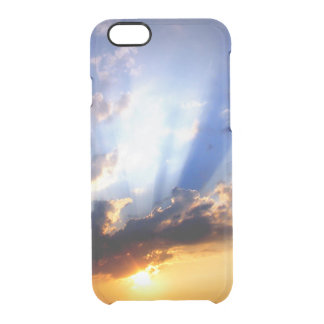 Sunset with Clouds, Beautiful Sky Clear iPhone 6/6S Case