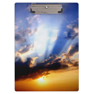 Sunset with Clouds, Beautiful Sky Clipboard