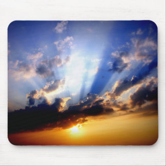 Sunset with Clouds, Beautiful Sky Mouse Pad