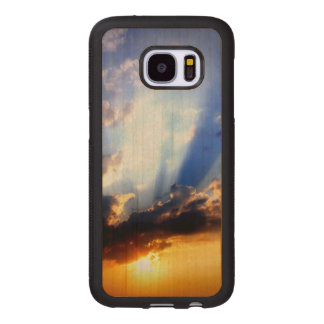 Sunset with Clouds, Beautiful Sky Wood Samsung Galaxy S7 Case