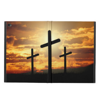 Sunset with Crosses