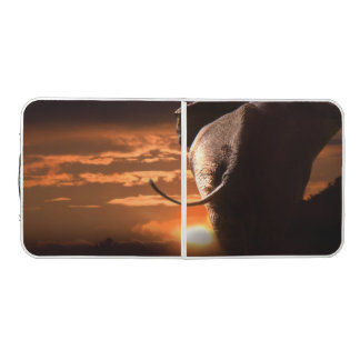 Sunset with Elephant Beer Pong Table
