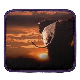Sunset with Elephant Sleeves For iPads