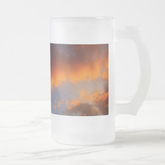 Sunset with Orange Clouds and Blue Sky Mugs
