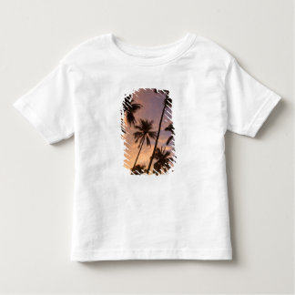 Sunset with Palm Trees, Moorea, French Polynesia 2 Tee Shirts