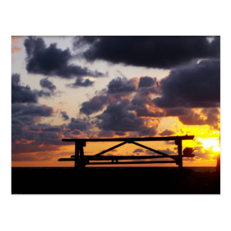 Sunset with Picnic Table Postcard