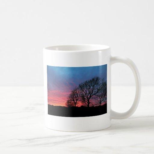 Sunset with rode sky mugs