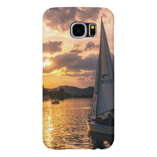 Sunset with Sailing Boat Samsung Galaxy S6 Cases