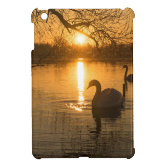 Sunset with Swan Case For The iPad Mini
