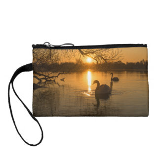 Sunset with Swan Coin Purse