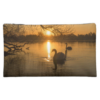 Sunset with Swan Cosmetic Bag